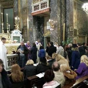 ER. Mons. Angelo De Donatis Vikar von Rom, in der Basilika Santa Maria in der Via – März 2018
